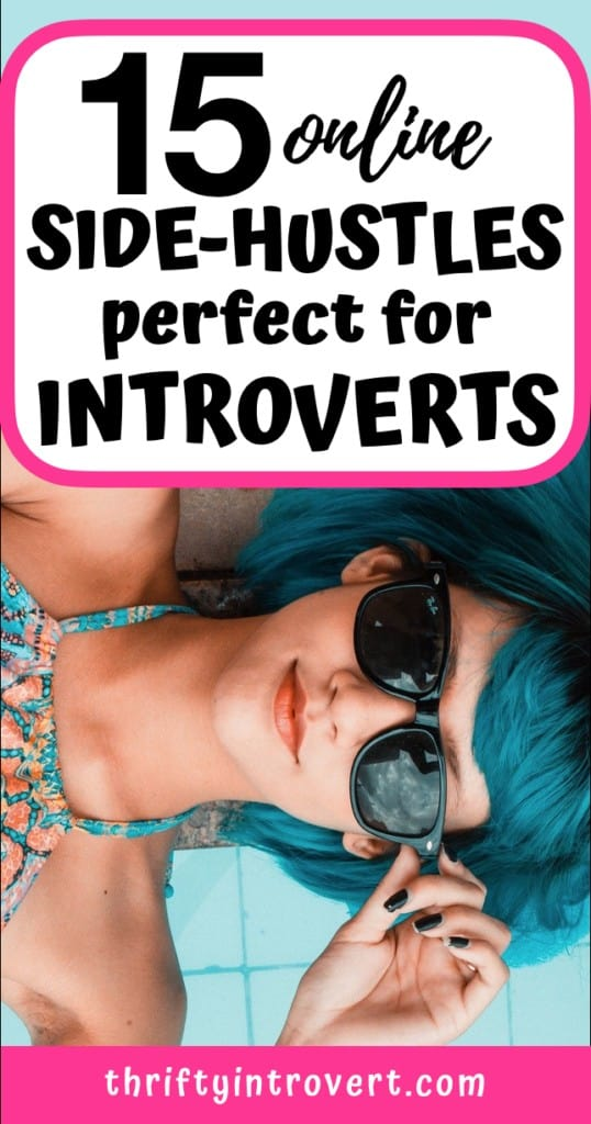 15 online side-hustles for introverts pin