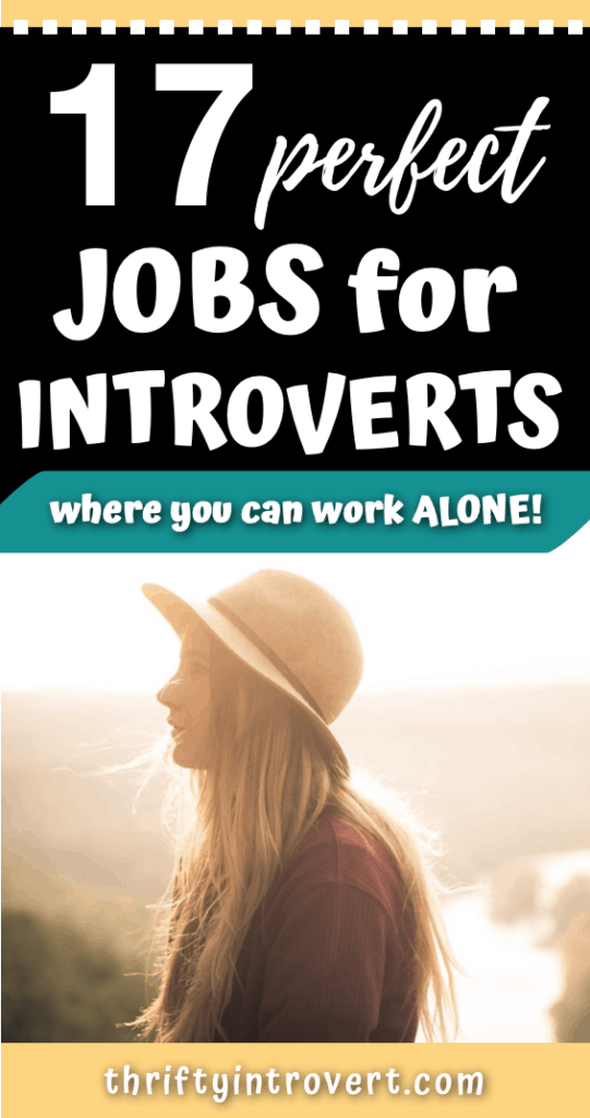 17 jobs for introverts pin