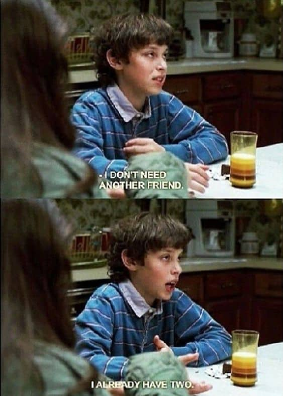 introvert meme freaks and geeks already have two friends