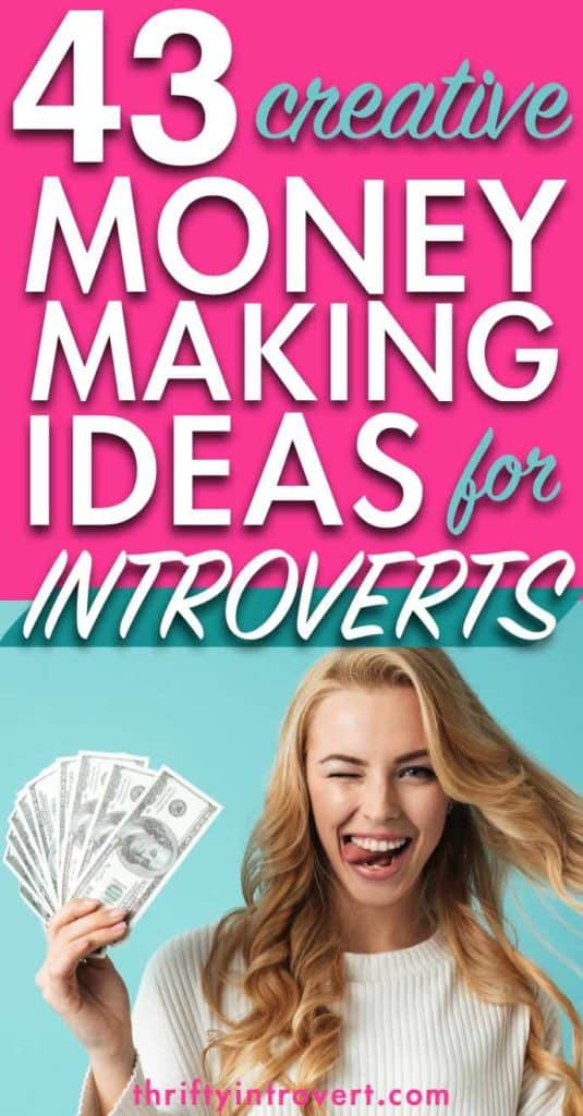 43 money making ideas for introverts pinterest pin