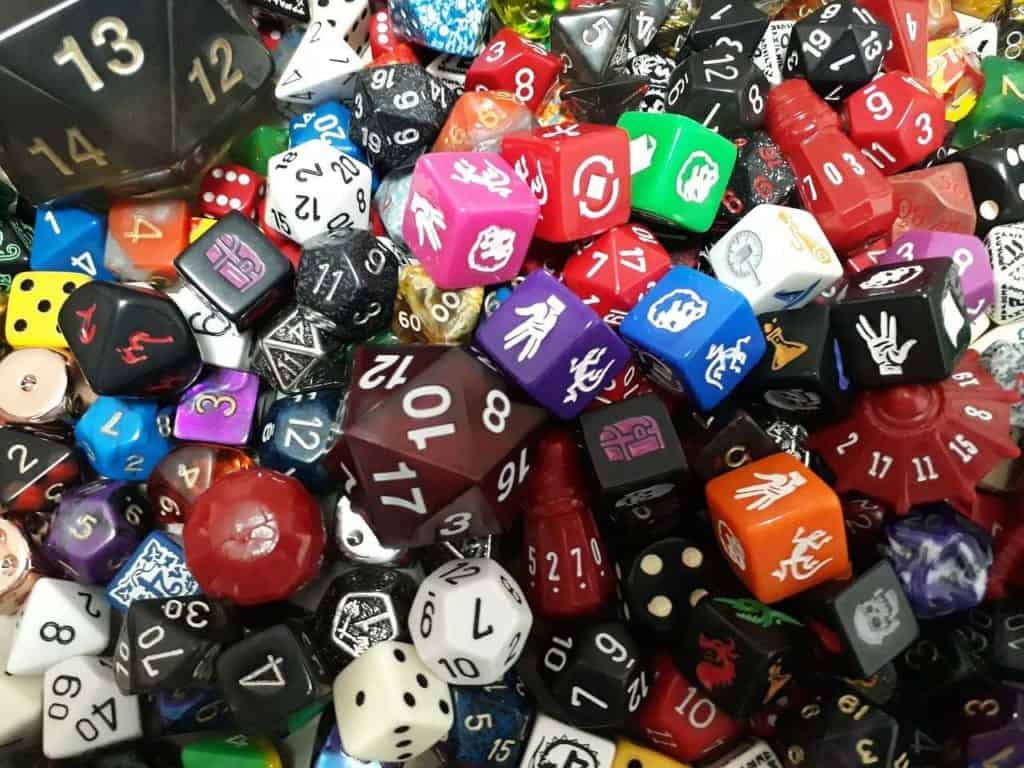 lots of dnd dice