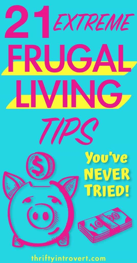 21 extreme frugality tips pinterest pin