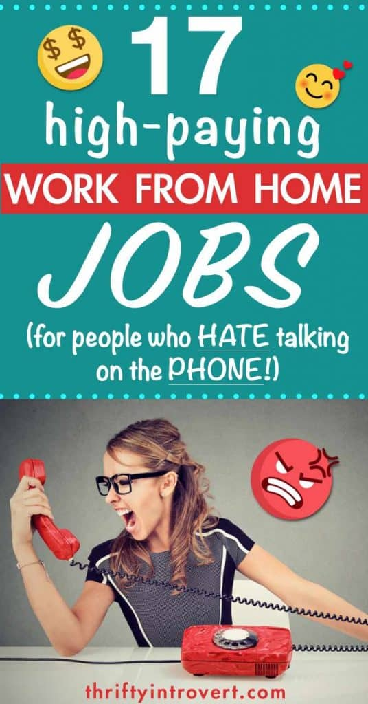17 work from home non phone jobs pin