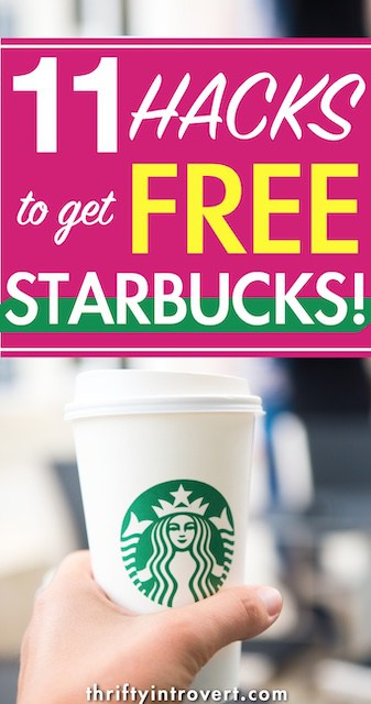 how to get free starbucks drinks pin