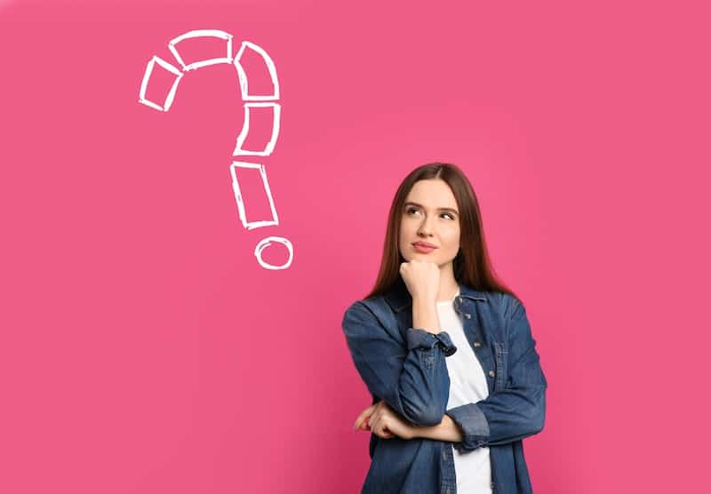 woman thinking about why