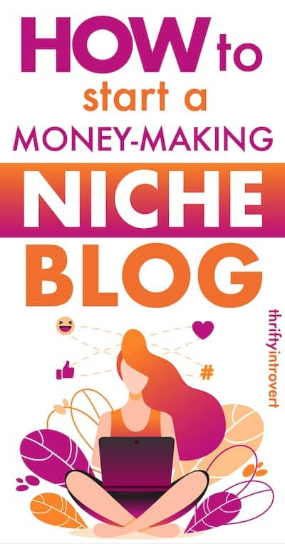 how to create a niche website pin