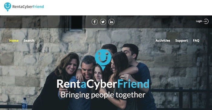 rent a cyber friend get paid to be a virtual friend