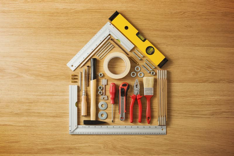 live frugally on one income by doing your own home repairs