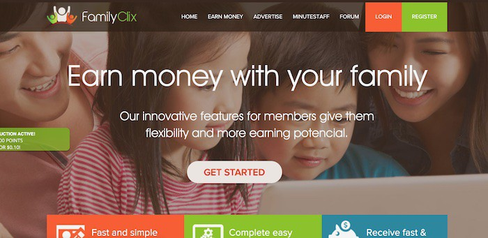 FamilyClix get paid to sites