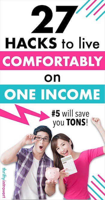 live frugally on one income pin