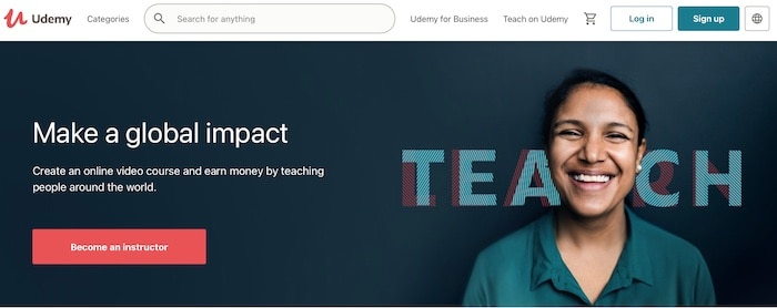 Udemy make money creating online courses