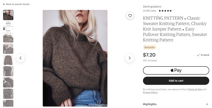 knitting pattern best things to sell on etsy to make money